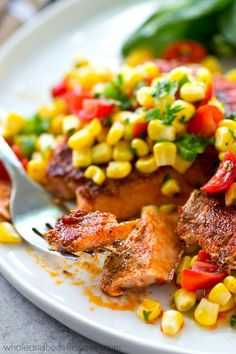 Tender grilled salmon with a smoky rub on the outside is a match made ...