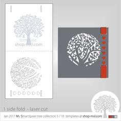 Jan 2017 tree collection 5 of 10  template. This beautiful cut TREE inspired invite is perfect for laser cutting.  Download VECTOR file. Free designs every day. No credits, just pay as you go with PayPal and other secure payment gateway's.