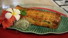 Cake à la farine de pois chiches et aux légumes - Fiche recette E aha te ma'a saison 3 n°11 © PACIFIC PRODUCTION