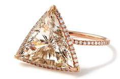 Monique Péan champagne diamond and rose gold ring