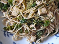 Whole Wheat Spaghetti with Tofu and Greens (a.k.a. Pasta for Parents) from It Ain't Meat, Babe