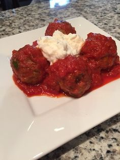A healthy alternative to traditional spaghetti and meatballs. Spaghetti And Meatballs, Healthy Alternatives, Meatloaf, Healthy Recipes, Traditional, Holiday, Food, Vacations, Meat Loaf
