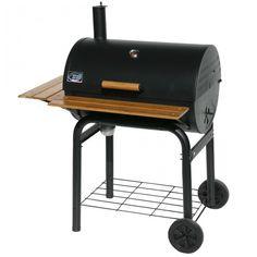Grill´n Smoke Barbecue Classic BBQ-Grill 7440  der Classic hat die gleichen Ausstattungsmerkmale wie der Rookie, das Volumen und die Grillfläche sind aber grüßen dimensioniert. Deckelthermometer und höhenverstellbarer Gussrost sind standard