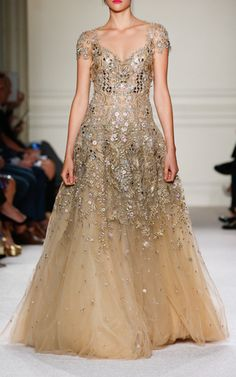 Laser Cut Tulle Gown by MARCHESA for Preorder on Moda Operandi