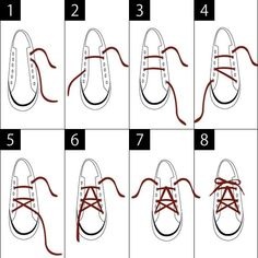 30 Different Shoelace Knot Style Tutorials - Machovibes Ways To Lace Shoes, How To Tie Shoes, Aesthetic Grunge, Aesthetic Clothes, Ways To Tie Shoelaces, Clothing Hacks, Diy Fashion, Knots, Sewing