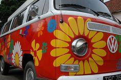 Flower Power | Bright camper van in Holt - Norfolk | Brian Burden | Flickr