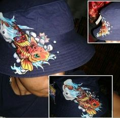 Hand painted hat