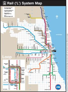 CTA map...I roll on the blue line most times.