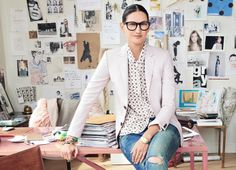 Jenna Lyons- my style icon. Image Fashion, Look Fashion, Fashion Idol, Looks Style, Style Me, J Crew Style, Girl Style, Business Outfit Frau, Jenna Lyons