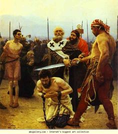 Ilya Repin. St. Nicholas Saves Three Innocents from Death.