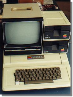 Vintage Apple computer: The Apple II - the first Apple computer I ever used. I remember my uncle had one just like this vintage computer! I believe  these vintage retro computers are an awesome collectible! ............................................................Please save this pin... ........................................................... Visit!.. http://www.ebay.com/usr/prestige_online
