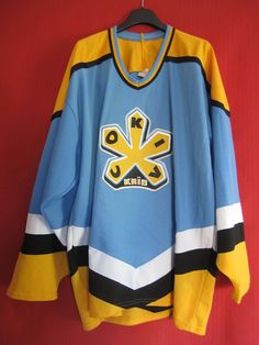 Maillot Hockey Cokiv Knib russian Bauer 1995 vintage Russia Ice NHL Jersey - XL