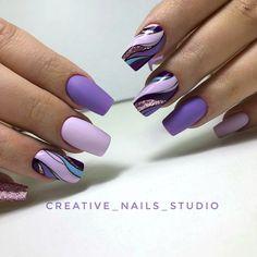 Discover cute and easy nail art designs for all occasions. Find inspiration for Easter, Halloween and Christmas and create your next nail art design. Purple Nail Art, Purple Nail Designs, Acrylic Nail Designs, Nail Art Designs, Acrylic Nails, Purple Toes, Nails Design, Easy Nail Art, Cool Nail Art