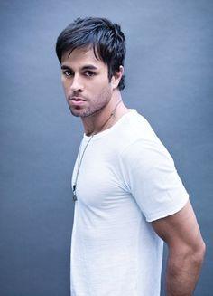 Enrique Inglesias in a white t-shirt