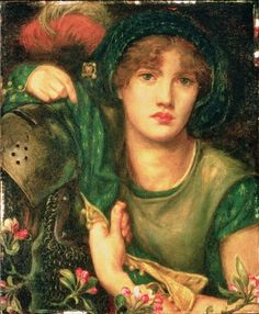 pre-raphaelisme:  My Lady Greensleeves by Dante Gabriel Rossetti, 1863.