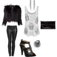 skulls, love the fuzzy coat!