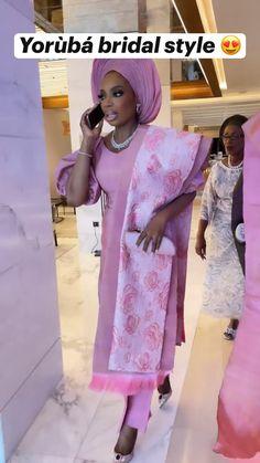 African Textiles, African Fabric, African Attire, African Dress, African Fashion Traditional, Yoruba Wedding, Nigerian Bride, African Head Wraps, Bridal Style