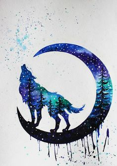Wolf Drawing - 75 Picture Ideas Watercolor Drawing, Watercolor Wolf Tattoo, Watercolor Paintings, Cute Animal Drawings, Cool Wolf Drawings, Anime Wolf Drawing, Art Drawings, Wolf Artwork, Wolf Painting