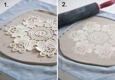 Maggie Weldon Lace Ceramiche