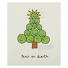 Buy Portfolio Peas On Earth Christmas Card Online at johnlewis.com