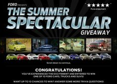 Ford Summer Spectacular Giveaway