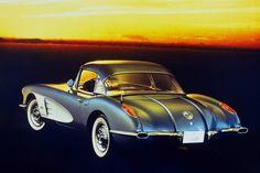 1958 Corvette (General Motors)    Twin chrome trunk spears were unique to the Corvette this year.