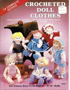 Free Crochet Doll Clothes Patterns | 1985 Cabbage Patch Doll Clothes Crochet Pattern Leaflet | PatternMania ...