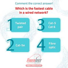 Which is the fastest cable in a wired network? #cableinternet #fiberinternet #wirenetwork #internet #fibertest Fiber Internet, Cable Internet, Internet Speed Test