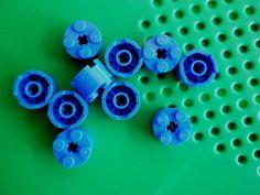 LEGO 2x2 Round Brick 3941 Pillar Column lot of 10 Blue #LEGO