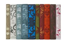 pretty, pretty books. Reminds me of when mom and I covered books with homemade fabric