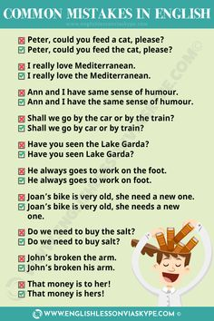 Common mistakes in English and how to avoid them. Stop making mistakes in English. Learn to speak English fluently and with confidence. 73 Common mistakes in English. Speak English Fluently, English Grammar Rules, English Adjectives, Teaching English Grammar, English Sentences, English Writing Skills, English Language Learning, English Vocabulary Words, English Lessons