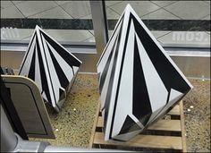 Die-Cut Heptahedral Display – Fixtures Close Up Solid Shapes, Die Cutting, I Am Awesome, Retail, Display, 3d, Floor Space, Billboard, Sleeve