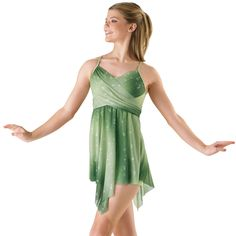 Ombre Glitter Mesh Wrap Lyrical Dress; Balera  dancewear solutions NEED