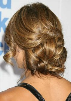chignon hairstyle pictures - Bing Images  Jessica Alba- gorgeous hair