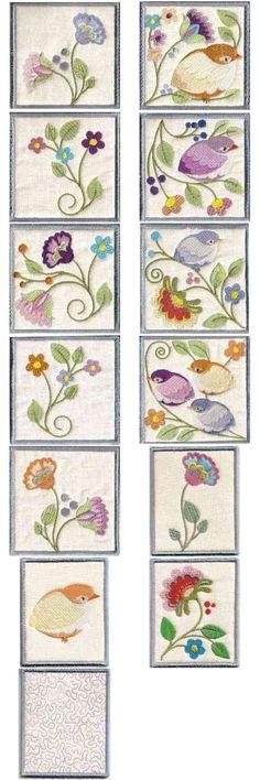 Jacobean Hummingbirds - 10 machine embroidery designs   eBay