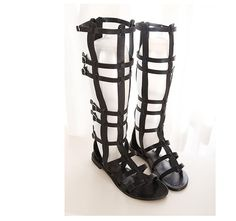 2014 Women Sandals Summer Flats shoes Sexy Knee High boots gladiator Sandals knee high gladiator sandals free shipping - http://bohemi.co/?products=2014-women-sandals-summer-flats-shoes-sexy-knee-high-boots-gladiator-sandals-knee-high-gladiator-sandals-free-shipping #boho #bohemian #bohoclothes