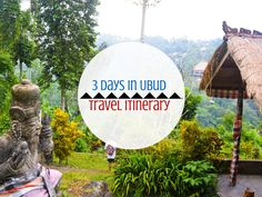 Looking for the best 3-Day Ubud Itinerary...? I'm here to help! No visit to Bali would be complete without spending a few days in the beautifully relaxing area of Ubud. I'd say that 3 Days in Ubud would be enough to explore a lot of the area! Where to stay in Ubud and what to do in Ubud is what I'll go over!