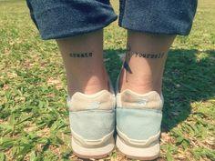 priitattoo,tattoo escrita creat yourself