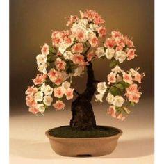 Pink Azalea Artificial Bonsai Tree