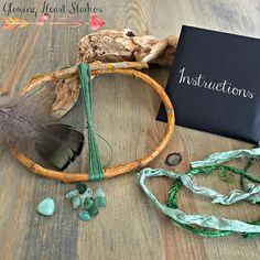 Dream Catcher Kit  aventurine stone nuggets  diy craft kit - By Glowing Heart Studios Shop on Etsy - Found at Rainbow Artists Etsy Team