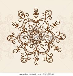 Black Line Art Ornate Flower Design Collection, Ukrainian Ethnic Style, Autotrace Of Digital Drawing Stock Vector 174561203 : Shutterstock
