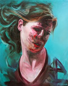 Virginia Broersma, Aqua Fatigue, x oil on canvas, 2013 French Art, Art Blog, Oil On Canvas, Modern Art, Virginia, Aqua, Joker, Portrait, Artist