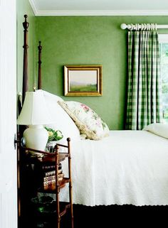 Green and all its hues can add serenity, playfulness or elegance to a room. Click for tips and pictures about decorating with green.