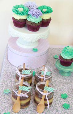 Candy Bar Bautizo, Cupcakes, Bite Size, Tea Party, Sweet, Desserts, Washi Tape, Food, Diy