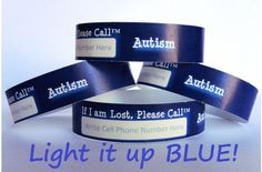 Safety Wristbands for Kids - Autism 8/Pack