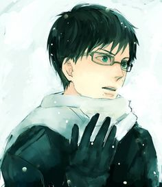 anime boy with glasses -