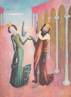 J. a W. Grimm Šípková Ruženka, ilustrácie Viera Žilinčanová Grimm, Painting, Art, Art Background, Painting Art, Kunst, Paintings, Performing Arts, Painted Canvas