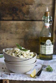 Cavatelli zucchini and almonds