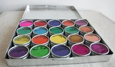 Water Color Paints Made from flowers