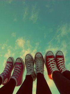 Feet high in the sky